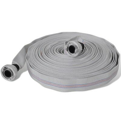"""New 30m Fire Hose Reel 1"""" Fighting Lay Flat Water Pump D Storz Fitting Canvas"""