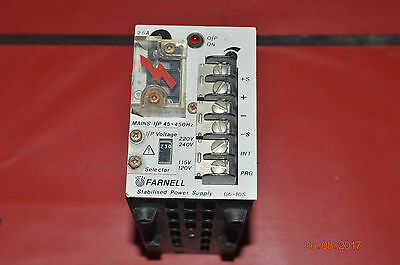 Farnell Stabilized power supply adjustable model g6-10s 10AMP 60 Watts