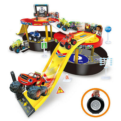 Kids Blaze and the Monster Machines Vehicles Parking Lot Nickeloden  game Toy