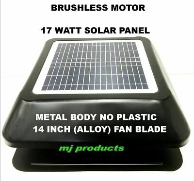 solar roof vent / 17 watt solar panel / solar extractor /roof ventilator square