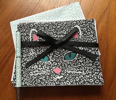 Vera Bradley CamoCat (10) Blank Cat Animal Note Cards Pen Set Great Gift NWT