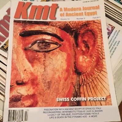 Ancient Egypt Magazine KMT Vol 22 #3 2011 Coffins Senenmut Pyramids Mummy's