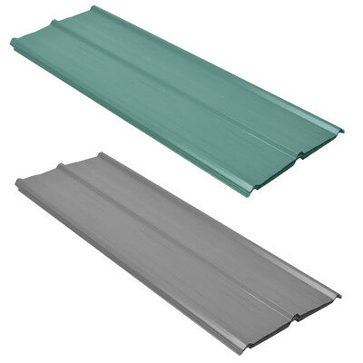 vidaXL 12pcs Roof Panel Shed Stable Roofing Sheets 0.25mm Galvanised Steel