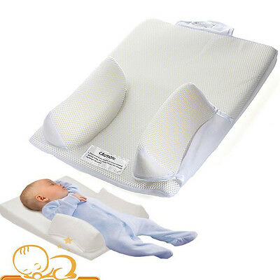 Baby Newborn Infant Anti Roll Sleep Prevent Flat Head Pillow Positioner Cushion