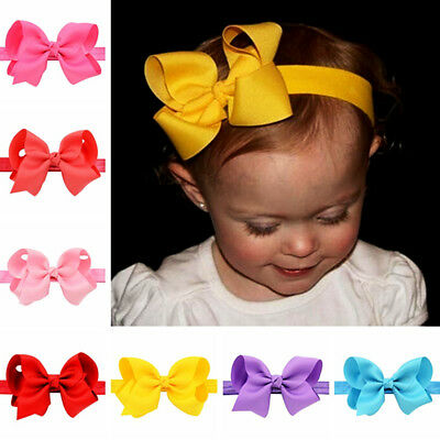 Newborn Kids Baby Girl Hair Bow Hair Band Headband Grosgrain Ribbon Hot