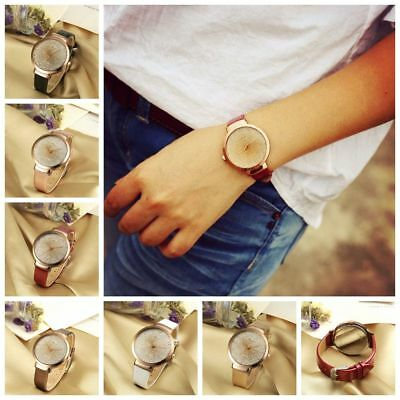 Fashion Women Luxury Analog Quartz Crystal Wristwatch Casual  Leather Watch