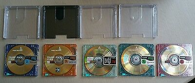 5 x TDK RECORDABLE MUSIC JACK COLOR MINIDISC WITH CASES & STORAGE BOX 74MINS