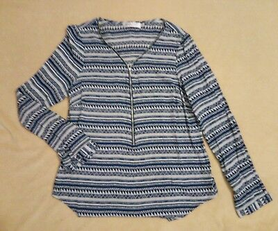 NEW Print Zip Top SUNNY GIRL Size 10/12 FREE POST!