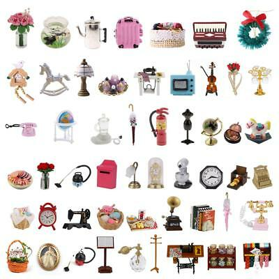 New 1:12 Dollhouse Miniature Accessories Fairy Garden Living Room Kitchen Kits