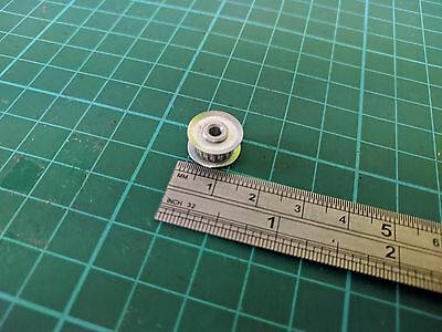 15T GT2 Idler Pulley for 3mm Wide Belt, With 3mm Bore (UK Stock).