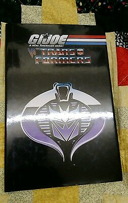 GIJoe Vs Transformers Hardcover Graphic Novel, Blaylock, Miller, 1st Print Ed.