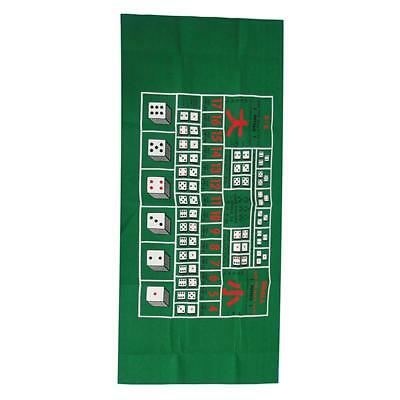 Table Layout Cover Poker Table Cloth Casino Felt Layout Poker Dice Game New