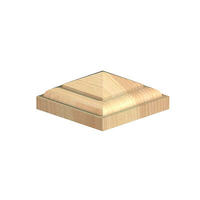 """Wooden Post Top Temple For 3"""" 75mm Fence Post Cap Untreated Green"""