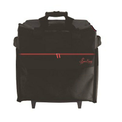Sew Easy| Fabric Trolley Bag| Black with Red Trim| Overlocker |MR4682Br