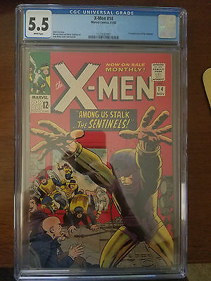 The (Uncanny) X-Men #14 CGC 5.5 Marvel November 1965 1st Sentinels/Bolivar Trask