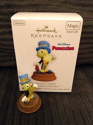 2011 Hallmark Disney Jiminy Cricket Pinocchio Magic Light Ornament