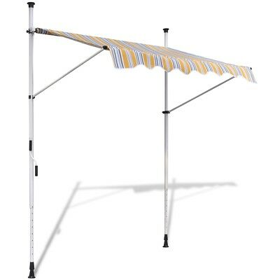 S# Patio Yellow 1.5x1.2m Arm Awning Canopy Outdoor Sun Shield Cover Retractable