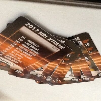 2017 NRL Xtreme Cards- Wests Tigers - 3 Cards - Numbers 151,155,158.