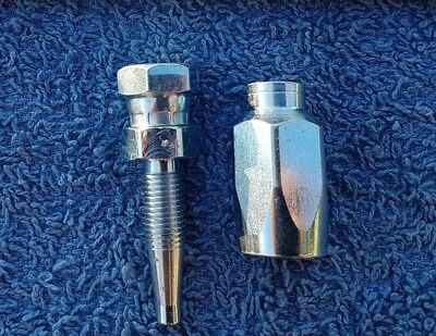 """High Pressure Washer Jetwash Hose Reusable Ends Repair Kit 1/4"""" Female 1 Wire"""
