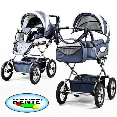 Travel system pram pushchair classic baby stroller 2in1 beautiful graphite color