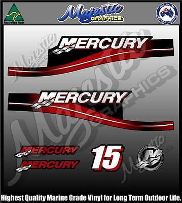 MERCURY 15hp - DECAL SET - OUTBOARD DECALS