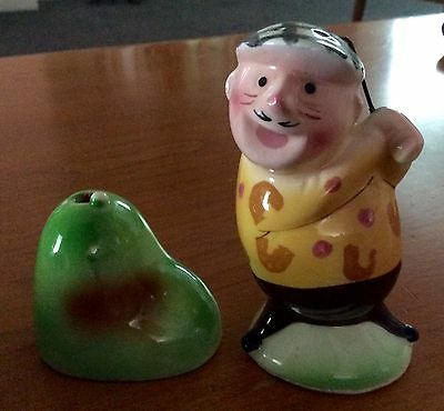 Vintage Enesco Golfer Salt & Pepper Shakers Bin