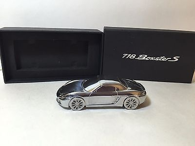 Porsche 718 Boxster S Limited Edition Model Solid Metal Promo Paperweight