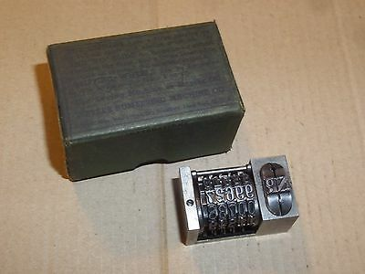 Wetter Letterpress Numbering Machine Lock Wheel Model 5 With Original Box
