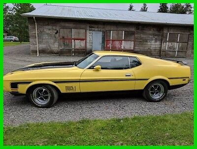 1972 Ford Mustang Mach 1 1972 Ford Mustang Mach 1 Original Q-Code Cobra Jet 351 Cleveland With Ram Air BC