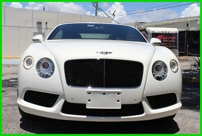 2013 Bentley Continental GT V8 White over Black hides very well equipped priced for quick sale!