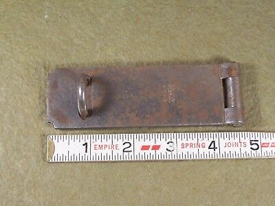 Vintage Hinged Hasp Latch Lock Old Padlock Hasp Gate Shed Barn Door Stanley