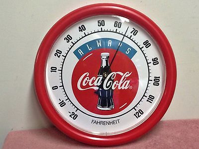 1980/90's Coca Cola Round Thermometer ~ Always Coca Cola.   New Old Stock