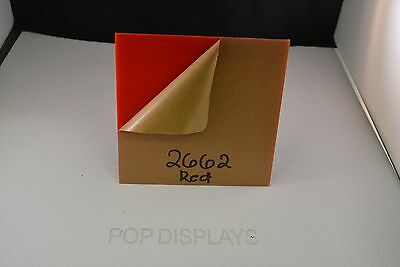 """POPDISPLAYS  COLOR SAMPLE OF COLOR #2662 RED 1/8"""" x 1.5."""" x 1.5"""""""