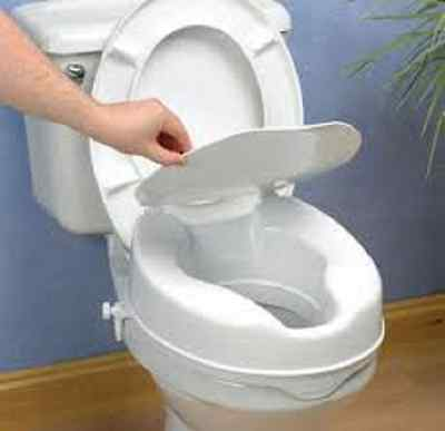 Raised Toilet Seat With Lid - 10cm: FREE EAST COAST DELIVERY