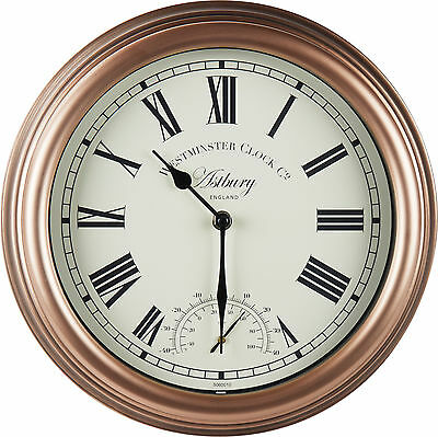Astbury Wall Clock & Thermometer 12inch