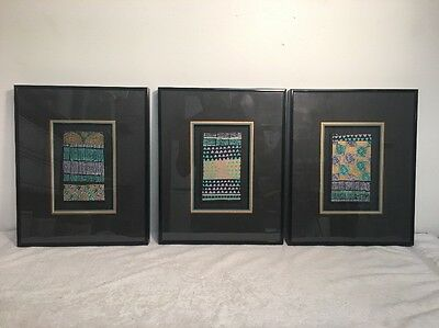 Harris G. Strong Nelson Gold Coast I, II, & III Framed Tile Art Mid Century