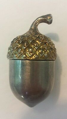 Tiffany & Co Acorn Pillbox/ Thimble Holder and Bag