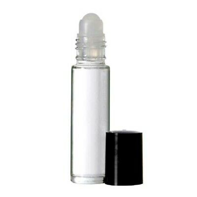 24 pack 1/3 oz Clear Glass Empty 10 ml.  Roller Bottles Aromatherapy Perfume Oil