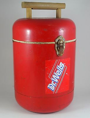 Vintage Dr Wells Cola Metal Round Cooler Advertising 16""