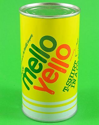 Mello Yello Vintage T-Shirt in a Can NOS Coca Cola Company Mellow Yellow