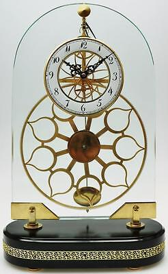 Rare Vintage C1970 French 8 Day Great Wheel Pin Wheel Escapement Skeleton Clock