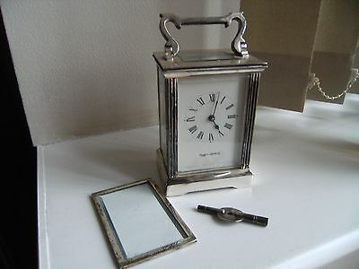 Vintage Mappin & Webb Carriage Clock with Key