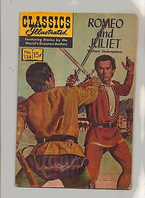 CLASSICS ILLUSTRATED No 134 ROMEO AND JULIET HRN 166 Reprint Edition