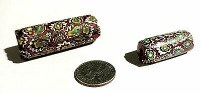 Rare Vintage Incredible Venetian Composite Millefiori Glass African Trade Beads