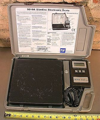 TIF MODEL No. 9010A, SLIMLINE ELECTRONIC REFRIGERANT SCALE WITH CASE