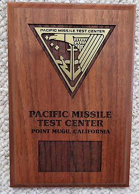 """PACIFIC MISSILE TEST CENTER POINT MUGU, CA 6""""x9"""" Wood Plaque"""