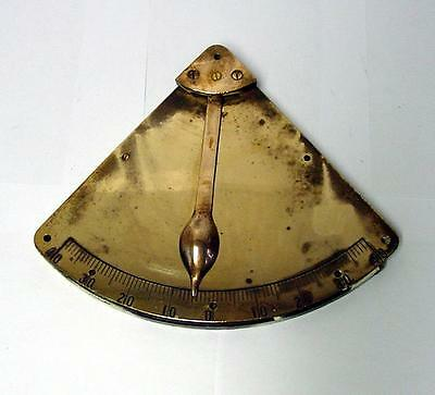 Ship's Brass Inclinometer - Authentic - Vintage