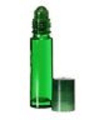 10 Ml. Glass Roll On Bottles 1 Case Quantity 864 1/3 Oz .green Aromatherapy