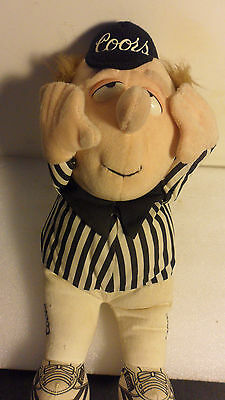 RARE COORS BEER STUFFED UMPIRE DOLL by GRAYHOUND SPECIALTYS 13""