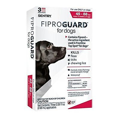 SENTRY Fiproguard Topical Flea and Tick Protection for Dogs 45 to 88-lbs 3 Dose